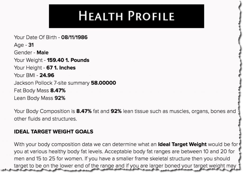 Health Profile